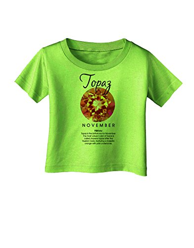Lime Topaz Stone - TOOLOUD Birthstone Topaz Infant T-Shirt - Lime Green - 18Months
