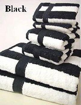 Amazoncom 100 Egyptian Cotton Striped Bath Towel Set 6 Piece