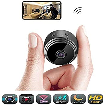 Hidden Wireless Mini Spy Camera - Éclat WiFi Indoor Motion Detection HD 1080P Small Home Security Night Vision Cameras, Video Recording, Nanny Cam with Cell ...