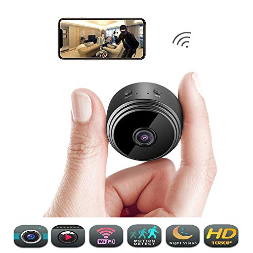 Hidden Wireless Mini Spy Camera - Éclat WiFi Night Vision, Motion Activated HD 1080P Video Recording Nanny Cam, Small Home Security Cameras with Cell Phone App & Web Monitoring