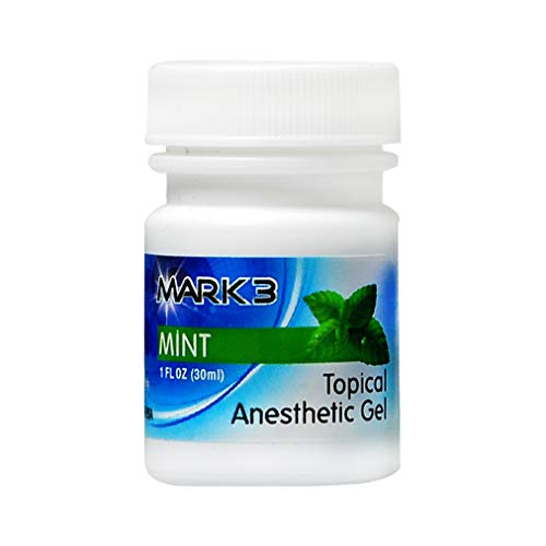 (Mark3 Dental Oral Topical Anesthetic Gel 1 Oz - Mint (20%)
