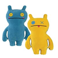 "Uglydoll Double Trouble Wage 14.25"" Plush, Blue/Yellow"