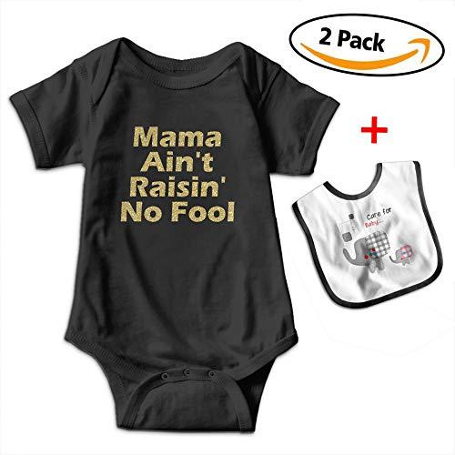 Benunit Mama Ain't Raisin' No Fool Girls' Cotton Short-Sleeve Onesies Shower Gifts 12-18 Month One-Piece
