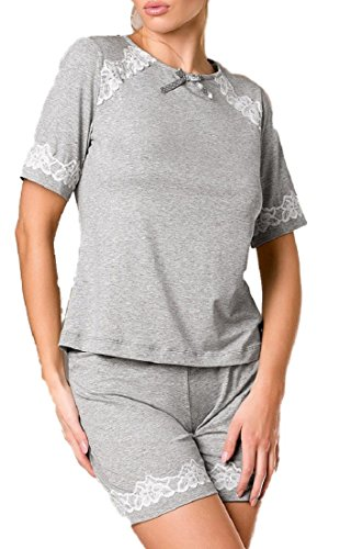 Conjunto de pantalón corto, color gris gris