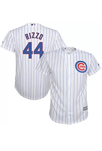 [Anthony Rizzo Chicago Cubs #44 MLB Youth Cool Base Home Jersey (Youth Medium 10/12)] (Boy Kids Baseball Jersey)