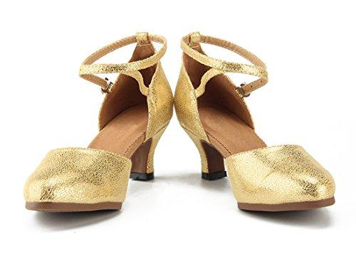 Zeppa 5cm MGM Sandali Gold 35 con Heel Donna Oro Joymod EU 1aqUy0Kwtq