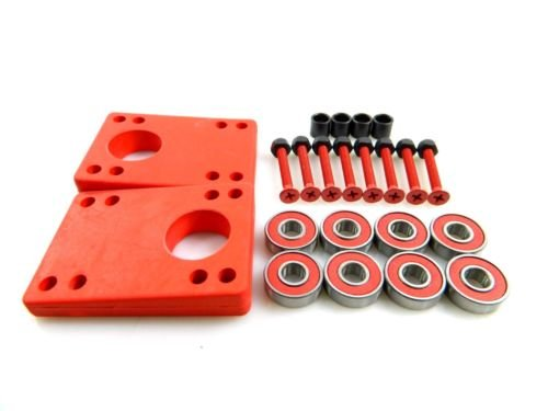 Angled Riser Pads - Angled Wedge Rubber Red Riser Pads 5/16