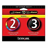 Lexmark #2 & #3 Mono/color Combo Pack