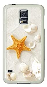 Beach sand and shells Easter Thanksgiving Personlized Masterpiece Limited Design PC White Case for Samsung Galaxy S5 I9600 by Cases & Mousepads