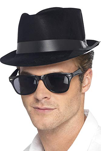 Flocked Fedora Hat ()