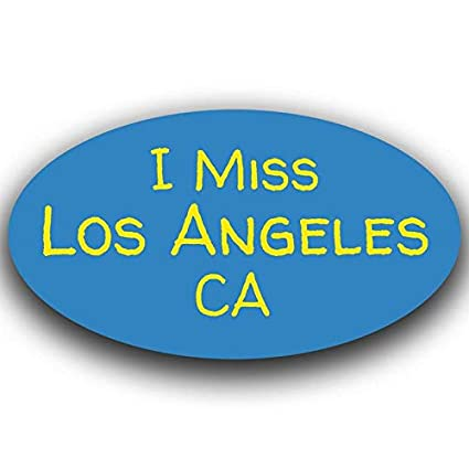 More Shiz Blue I Miss Los Angeles California Decal Sticker Travel Car Truck Van Bumper Window Laptop Cup Wall MKS0488 One 5.5 Inch Decal