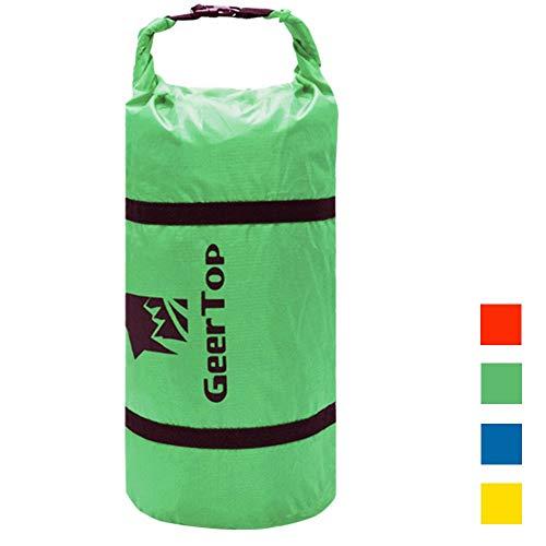 GEERTOP Waterproof Adjustable Tent Compression Bag Lightweight Duffel Bag - for Camping Outdoor Sports (Green, for 4 to 5 Men Tent)