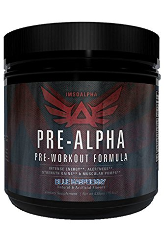 IMSOALPHA | Pre-Alpha | Designed by Mike Rashid | Pre-Workout Complex for Energy, Focus & Muscular Pumps | 35 Servings (Blue Raspberry) by IMSOALPHA
