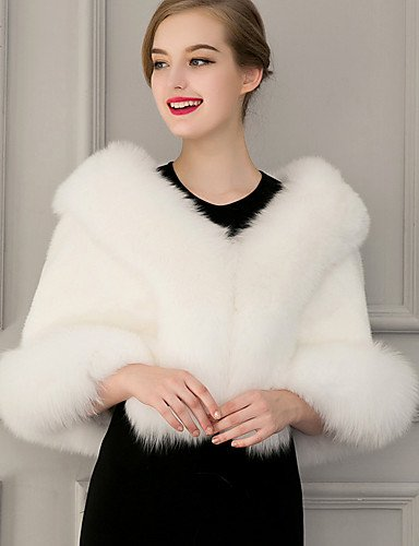 Black Faux Winter Fur Women's Fall Shawl White Aemember Scarf Cloak Solid Rectangle White Infinity 4A7x5Cnwq