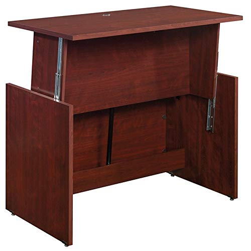 Sauder Sit Stand Desk, Classic Cherry finish