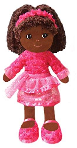 GirlznDollz Elana Dancer Black Baby Doll, Dark Pink/Fushia