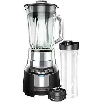 BLACK+DECKER FusionBlade Digital Blender with 6-Cup Glass Jar, Black/Stainless, BL1820SG-P