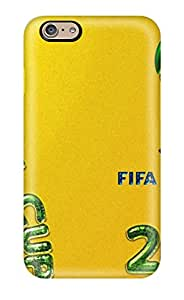 Durable Defender Case For Iphone 6 Tpu Cover(fifa World Cup 2014)(3D PC Soft Case)