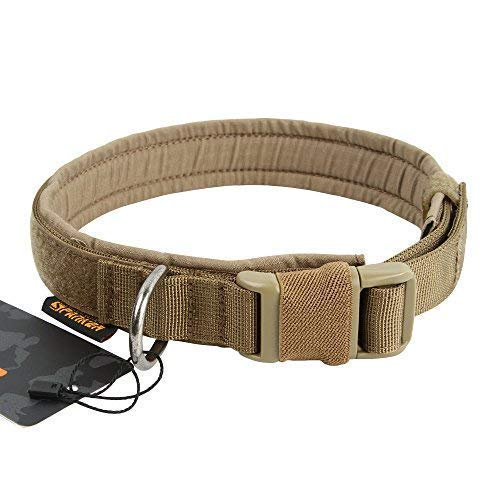 EXCELLENT ELITE SPANKER Puppy Dog Collar Nylon Adjustable Quick Release Dog Collar for Large Medium Small Dog Soft Padded Pet - Martingale Dog Collar Brown