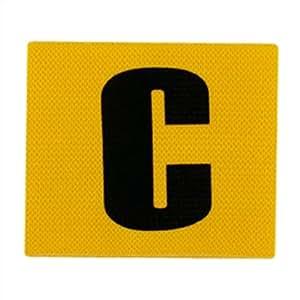 Softee Distintivo Capitan - Brazalete regulable, color amarillo