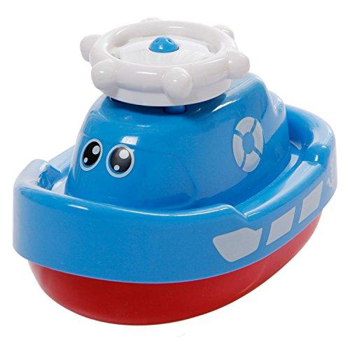 Tonor Baby Badespielzeug Badewanne Dusch Rotierend Wasserspritz Boot für Entwicklung Badefreunde Kindergeschenk