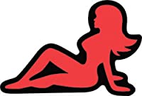 Licenses Products Mud Flap Girl Glitter Sticker