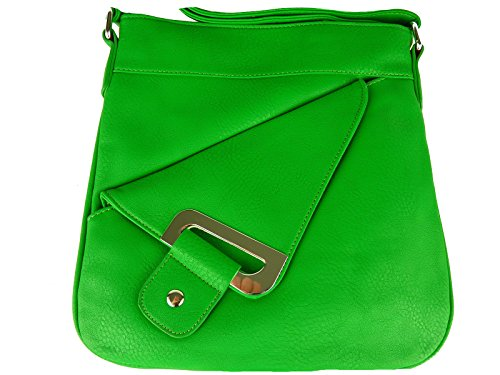 0285 Sunny Girl - Woman Crossed Small Green Bag