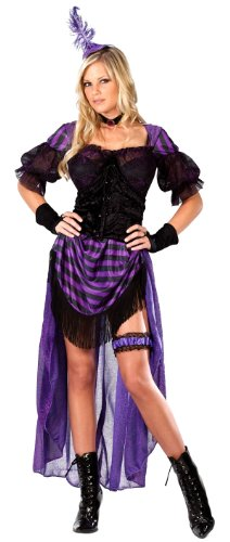 Sexy Lady Maverick Saloon Girl Costume - Womens Sm/Md (2-8)]()