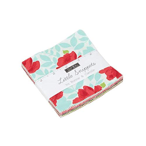 Little Snippets Charm Pack by Bonnie & Camille; 42-5 Inch Precut Fabric Quilt Squares