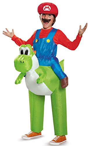 Mario Riding Yoshi Inflatable Child Costume - Video Game Costumes