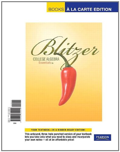 College Algebra Essential, Books a la Carte Edition (3rd Edition)