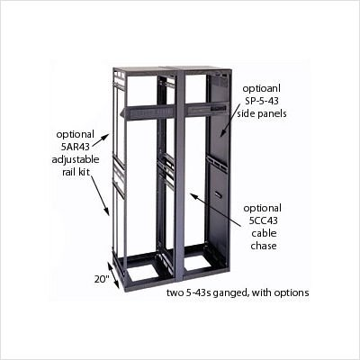 Middle Atlantic 6Slim 5 Series Equipment Rack Enclosure Rack Spaces: 14U Spaces, Depth: 20