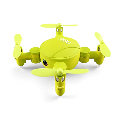 WARMSHOP Super-Mini Folding Design Drone With 720P Camera 6-Axis 3D UFO FPV RC Quadcopter (Yellow) by WARMSHOP