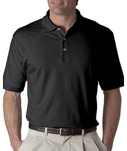 Egyptian Cotton Shirt (UltraClub Men's Egyptian Interlock Polo Shirt - Black 8505 M)