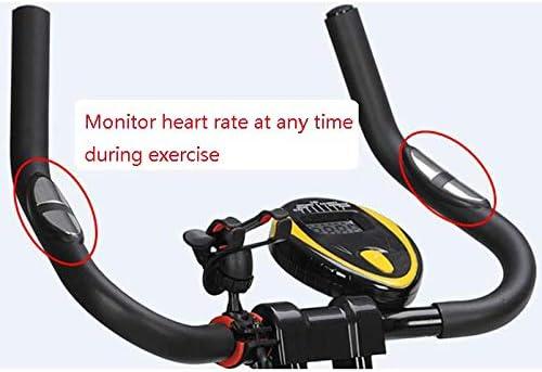 SYLTL Bicicleta de Ejercicio Plegable Pantalla LCD Ejercicio ...