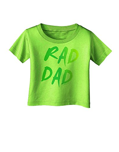 TooLoud Rad Dad Design - 80s Neon Infant T-Shirt - Lime Green - 12Months (80s Outfits For Sale)