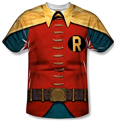 (Batman Classic TV - Robin Costume T-Shirt Size L )