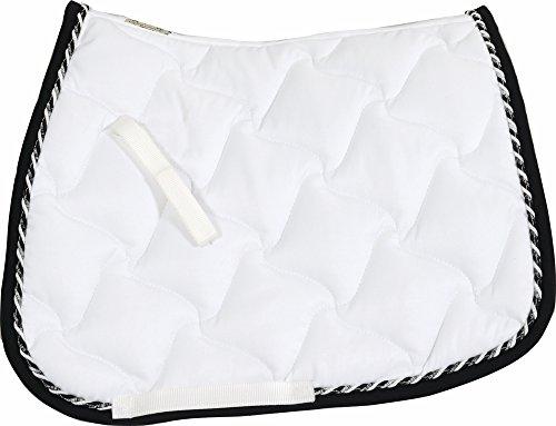 INGATE DRESSAGE SADDLE PAD, WHT/BLK, - Blanket Horse Pad Saddle