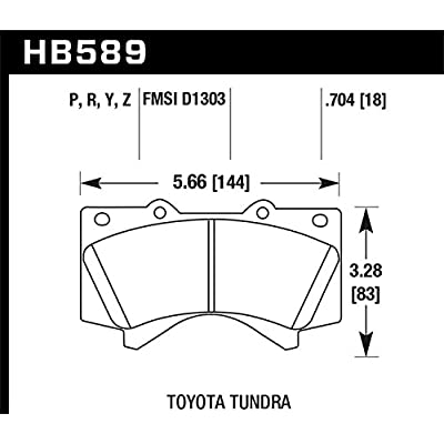 Hawk Performance HB589Y.704 LTS Brake Pad: Automotive