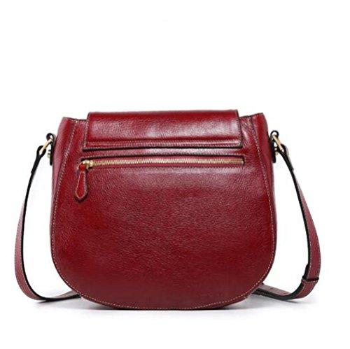 Embossed Sac à Red Retro Femmes Saddle BAILIANG Bandoulière Fashion Bag xwqSYzEX