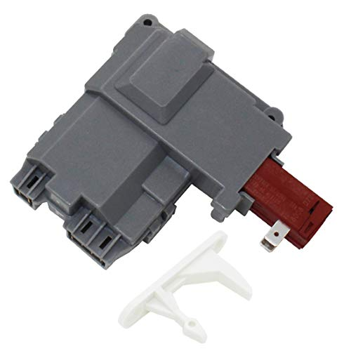 S-Union Replacement 131763202 Front Load Washer Door Lock Switch Assembly with 131763310 Striker for Frigidaire Kenmore 131763255 131763256 0131763202 131269400 131763200 131763245 AP4455026