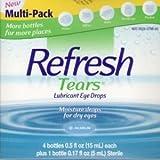 Refresh Tears Lubricant Eye Drops , Multi Pack