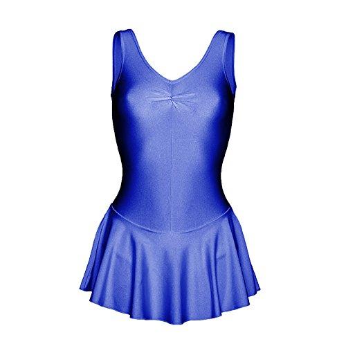 Starlite–Falda de nailon y licra para baile azul cobalto