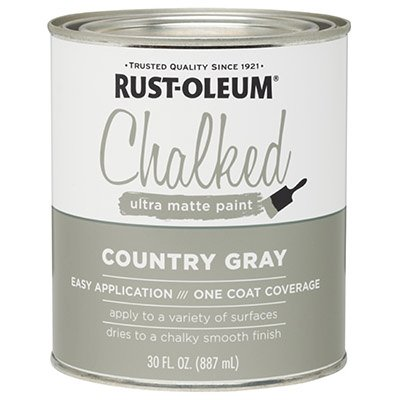 Rustoleum 285141 30 Oz Country Gray Chalked Ultra Matte Paint (Amy Howard One Step Paint)