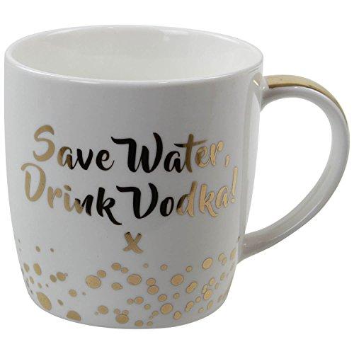Vodka caffè/tè in porcellana fine citazioni Gift Gold–One design scelto a caso