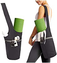 Yoga Mat Bag with Large Size Pocket and Zipper Pocket, Fit Most Size Yoga Mats, Long Tote with Pockets - Holds