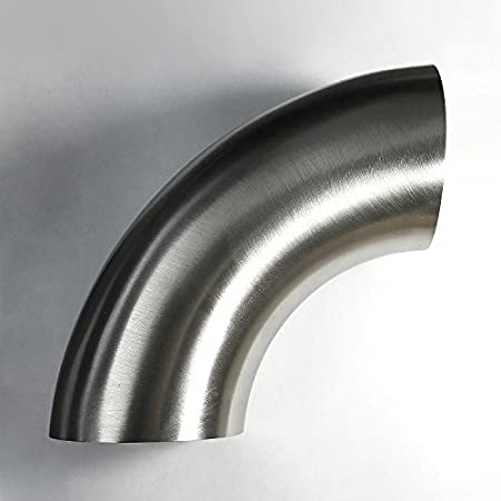 No Leg Stainless 1.5 90/° Mandrel Bend Elbow SS304 16GA 1.5D//2.25 CLR Loose Radius Stainless Bros