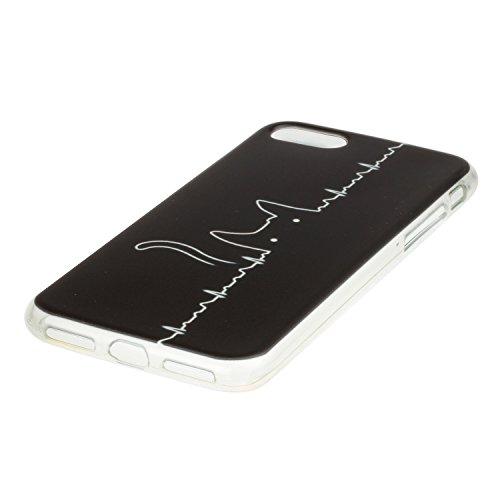 """Hülle iPhone 7 Plus / iPhone 8 Plus , LH Linie Kat TPU Weich Muschel Tasche Schutzhülle Silikon Handyhülle Schale Cover Case Gehäuse für Apple iPhone 7 Plus / iPhone 8 Plus 5.5"""""""