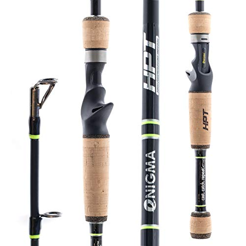 Enigma Fishing High-Performance Titanium Pro Tournament Series Bass Fishing Rods, Japanese Toray Graphite High Modulus 1 Pc Blanks, Alps Guides, Cork Grips, Actions - Casting Rod