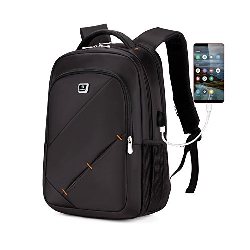 Laptop Backpack 18' x 12' x 8' Business Backpack Placed 15.6'Laptop USB Charging Interface for Students, Travelers, Business Men and Women (Gray)